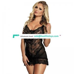 Black lace hot sexy teen girls see through lingerie underwear