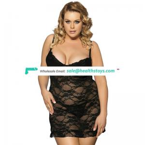 Black plus size hot adult girls sexy transparent lingerie