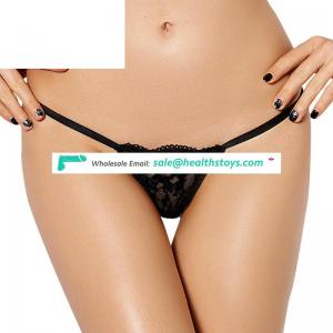 Black romantic sexy lace g-string
