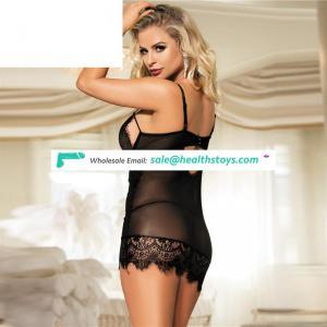 Black wholesale beautiful in see through erotic girls sexy hot nighties lingerie