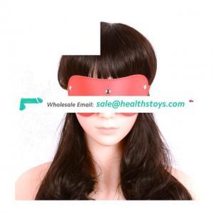 Bondage Restraints PU Leather Eye Mask Blindfold Flirt Toy For Couples Game