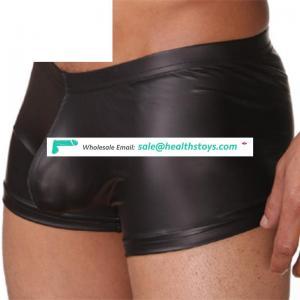 Boxers wholesale elastic leather black sexy man boxer