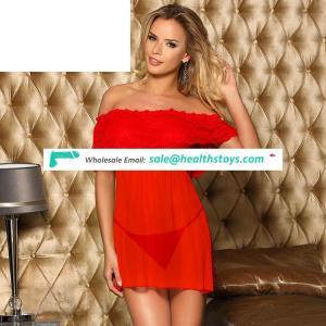 Bulk China Red Erotic Ladies Nude Hot Transparent Sexy Lingerie
