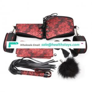Chinoiserie 6Pcs/Set Kit Fetish Bondage Toys for Couples Women, Nipple Clamps Handcuff And Whip Feather Tickler