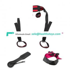Cosplay Adult Hand & Ankle Cuffs Strap Kit Bed Restraints Couple Flirt Toy for Party Game