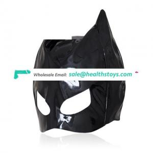 Cosplay Adult Love Games Thin Patent Leather Mask Toys For Woman,Fetish Mask Bondage Hood