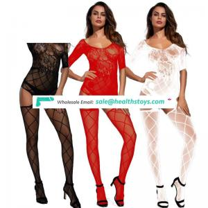 Custom Women Fishnet Open Soft Tights Lingerie Transparent Erotic Lace Bodysuit
