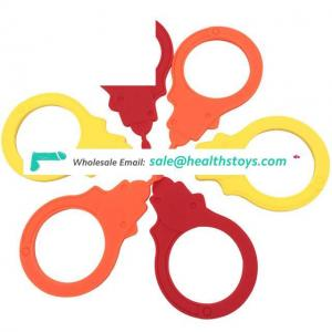 Custom eco-friendly strong flexible silicone handcuffs role play toy