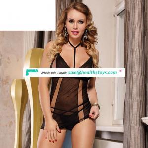 Dropship black mature girl lace lingerie babydoll sets