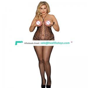 Elegant Factory Price Black Plus Size Sexy Mature Women Sexy Bodystocking