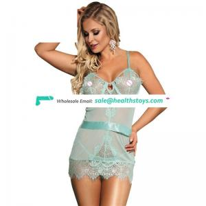 Elegant Two Color Hot transparent  Women Sexy One Size babydoll