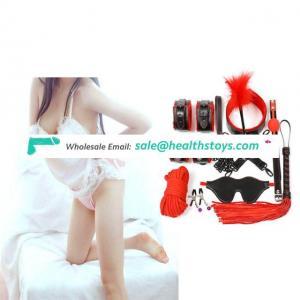 Environmental Friendly Materials Lingerie 10Pcs/Set Adult Bondage Leather Restraint Kit