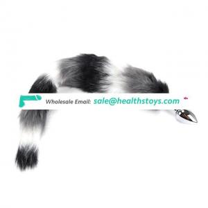 Erotic 75CM Fox Tail Anal Plug Stainless Steel Metal Butt Plug Tail Fetish Buttplug Toys For Women Anal Adult Products