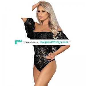 Factory Price Black Four Color Lace Teddy Girls Couples Sexy Nightwear