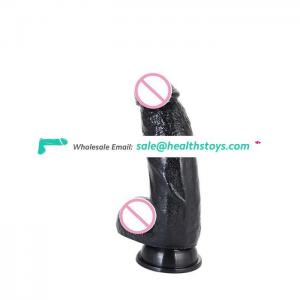 Factory Price Huge Black Horse Dildo with Suction Base