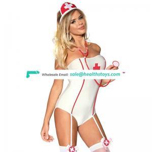 Factory Price Sexy Nurse Cosplay Costume Teddy Lingerie Nightwear