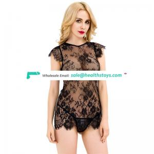 Factory hot sale new design tube lace sexy babydoll arabic women lingerie