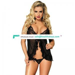 Factory price transparent babydoll sexy