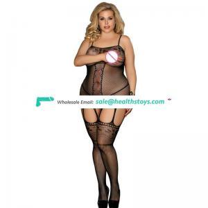 Fashion Fishnet plus size wholesale sheer sexy mature hot bodystocking