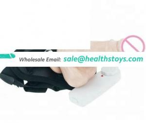 Fashion Women Sexy Toys Dildo Vibrator Massager Brief Strap On PVC material dildo