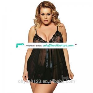Fashion super plus size lingerie sexy lingerie black color for fat women