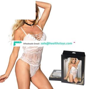 Fashion white sexy lady lace teddy lingerie