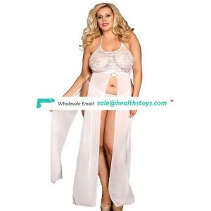 Fat women white four sizes sexy lingerie plus size