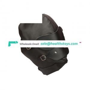 Fetish Hood Under Bondage Hood With Blindfold Mask Open Mouth Ball For Couple
