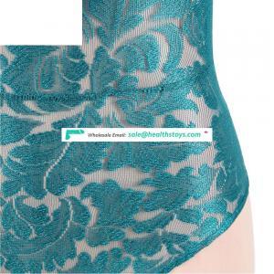 Four Color In Stock Plus Size Lace Sexy Ladies Lingerie Bodysuit