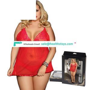 Four Size Three Color Wholesale Red Hot Plus Size Woman Lingerie