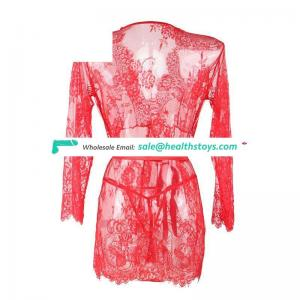 Four Size Wholesale In stock plus size  hot sexy womens lace sleepwear