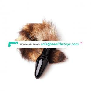Fox Tail Anal Plug Glass Butt Plug Toys For Woman