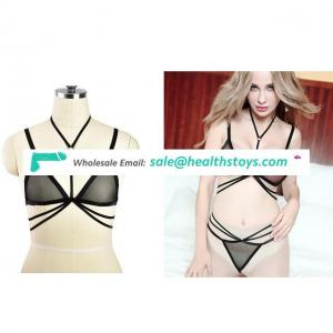 Full Body Harness Lingerie Set Cage Bra Strappy Tops Hollow Out Chest Belt Black Cupless Bralette