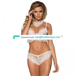 Girl sexy cute transparent bra panty set