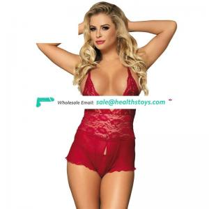 Good Quality Red Lace Hot Erotic  Women Lingerie