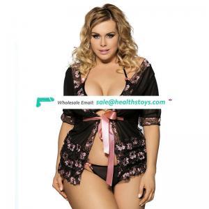 Good version short sleeves black mini length nice lingerie wholesale sexy see through babydoll lingerie