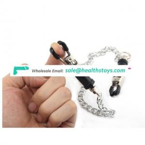 Greenee Adult Game Metal Nipple Clamps With Chain Fetish Toys