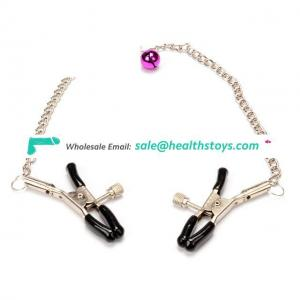 Greenee Nipple Clamps With Chain Small Bells Clips Breast Stimulation