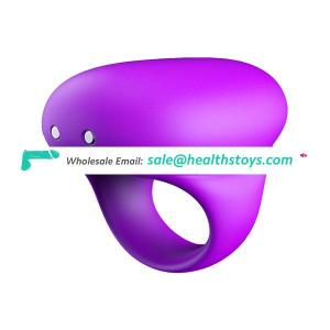 HGD Wholesale Price Silicone Vibrating Safe Cock Ring Waterproof Lock Ring For Men