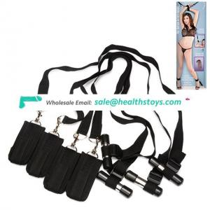Handcuffs Adult Products Door Swing Ribbon Bondage Restraint Hand Cuffs Straps For Couple