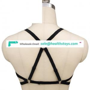 Harness Body Accessories Black Belt Elastic Cupless Cage Bra Body Heart Shape For Women