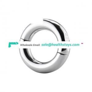 Heavy Duty Stainless Steel Ball Scrotum Stretcher Metal Lasting Cock Ring For Men Delay Penis Ring Toys