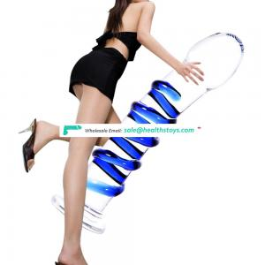 Hot Selling Sex Toys Vibrator Prostate Massager Enlarge Glass Butt Anal Plug