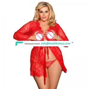 Hot Selling Spicy Red Eyelash Lace Women  Plus Size  Sexy Babydoll lingerie
