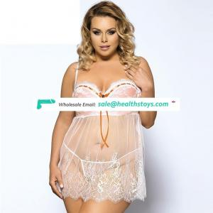 Hot girl transparent lace sexy lingerie for fat women
