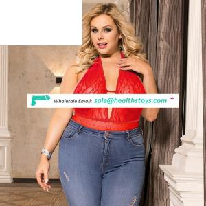 Hot red paypal accept in stock womens shapewear plus size lace bodysuit