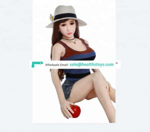 Hot sale 148CM Male Adult Toy cute Big Chest Real Silicone Sex pussy Strong suction Entity sexy vagina love doll For man