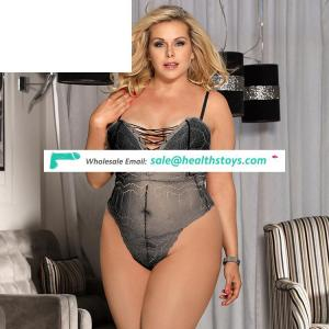Hot sale big size paypal accept sheer teddy lingerie