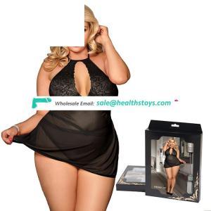 Hot sale fashion black color women plus size sexy hot lingerie
