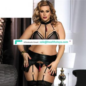 Hot sale in stock plus size sexy bra and panty new design
